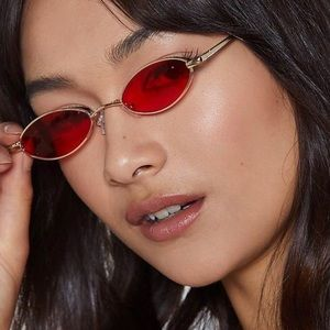 Nasty gal Mini Red Lense Sunglasses